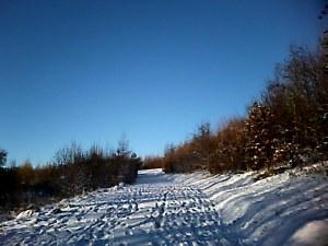 steep hill I slid down...