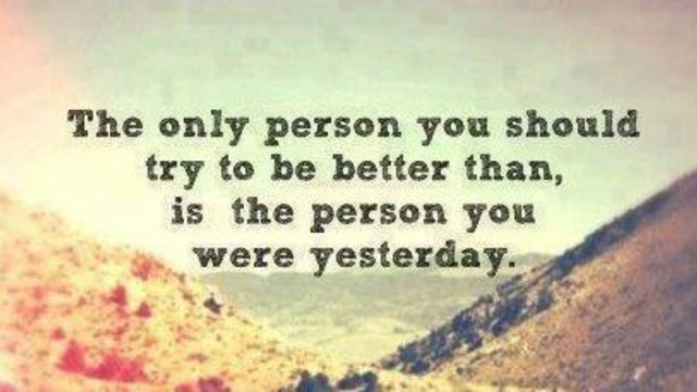 Be Better Than The Person You Were Yesterday Lorn Pearson Trains