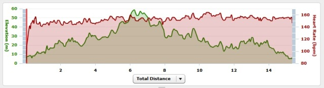 15.5 miles graph
