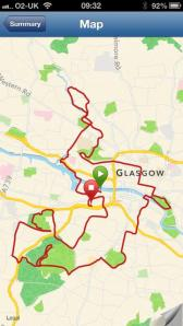 marathon map glasgow